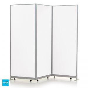 Easi Clean Mobi Concertina Divider Screens in White Gloss Laminate
