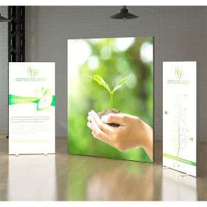 4 panel LED light box with fabric panels