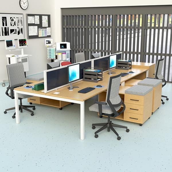 desktop social distancing screens, manufactured by Go Displays