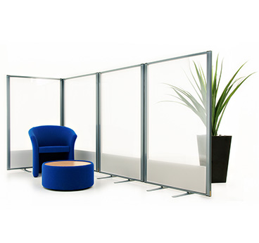 glazed office partitions, manufactured to order by Go Displays