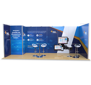 2m x 6m Hire Modular Exhibition Stand, supplied by Go Displays