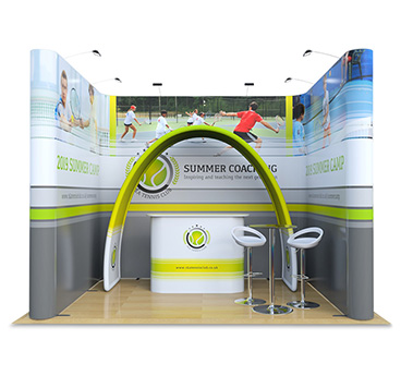 3m x 4m Jumbo Pop Up Exhibition Stand, manufactured by Go Displays