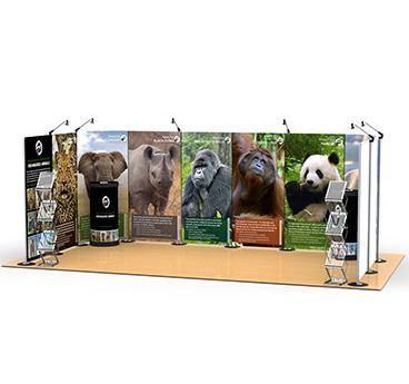 3m x 6m Streamline Exhibition Stand, manufactured by Go Displays