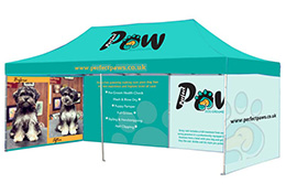 Outdoor displays & printed gazebos, marques and tents