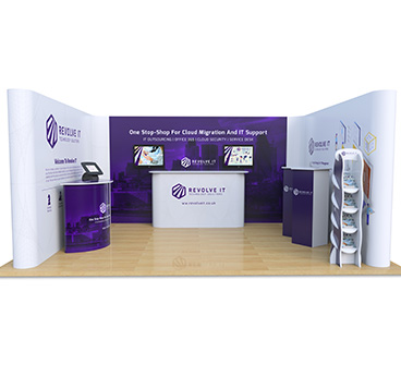 4m x 5m U Shape Exhibition Stand, manufactured by Go Displays