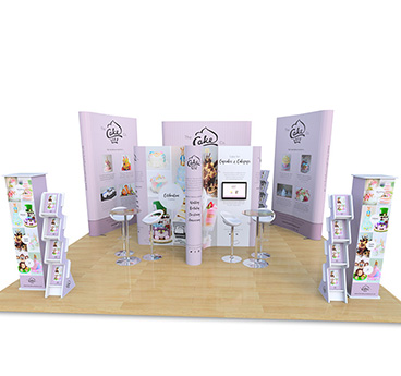 Island Pop Up Display Stands, ideal for any exhibition stand