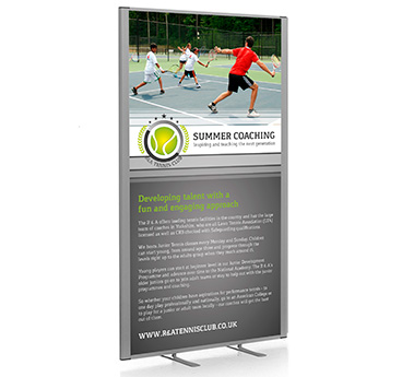Printed office partition screens