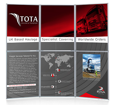 Printed Event Displays, manufactured and designed by Go Displays
