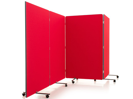 Portable Room Dividers in a choice of finishes including Antibacterial and Easy Clean