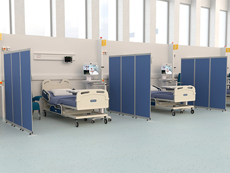 Medical Partition Screens, finished with Antibacterial surface