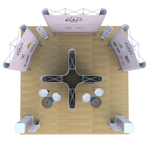 6m x 6m pop up exhibition stand complete kit includes everything you need for your display