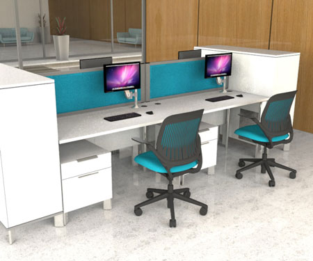 Desk Divider Screens ideal for all offices from Go Displays