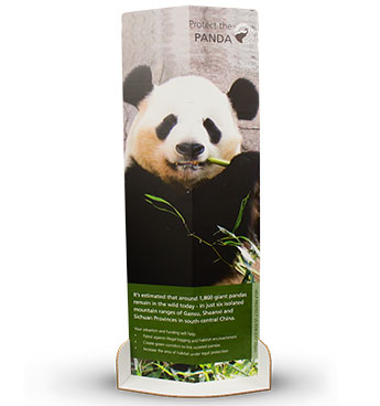 Eco-friendly Banner Stands with are 100% recyclable and made with Xanita.