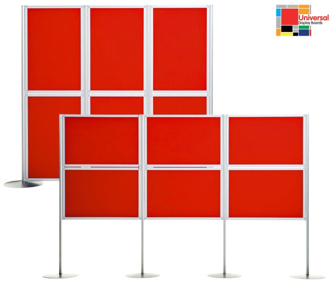 Universal exhibition display panels, manufactured in a variety of finishes