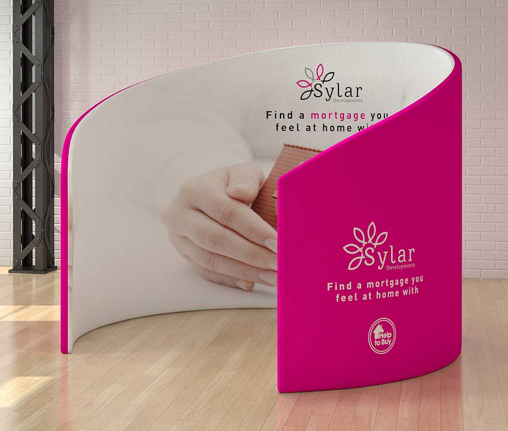 Fabric display stands from go displays