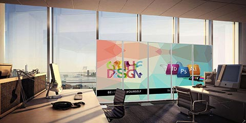 Room Dividers are ideal to transform any open area within seconds, making them the perfect portable partition.