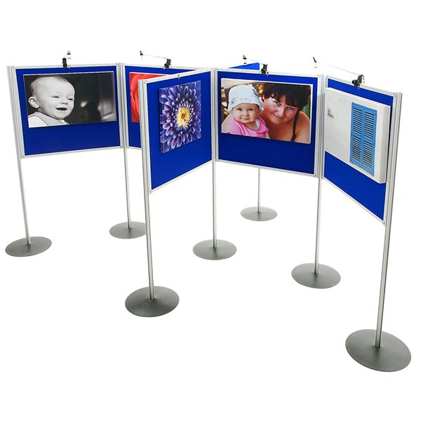 Universal Panel and Pole Display Boards create the perfect art exhibit and displays that are quick and easy to set up