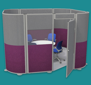acoustic office pods, made to order by go displays