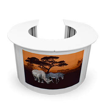 Eco friendly display stands and accessories, supporting the environment.