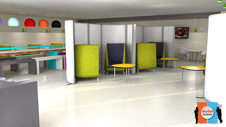 Laminate Partition Screens ideal for canteens and office screens