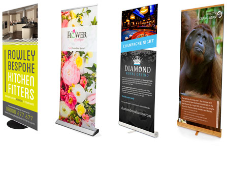 Roller Banners and Pull Up Banners ideal for all display stands from Go Displays