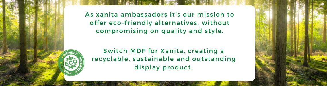 Eco-friendly displays made with Xanita from Go Displays