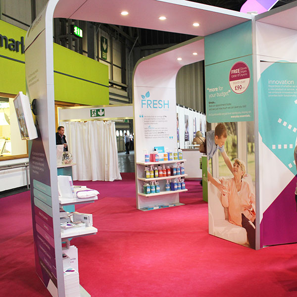 Countrywide Health Care Pro Hire Exhibition Stand